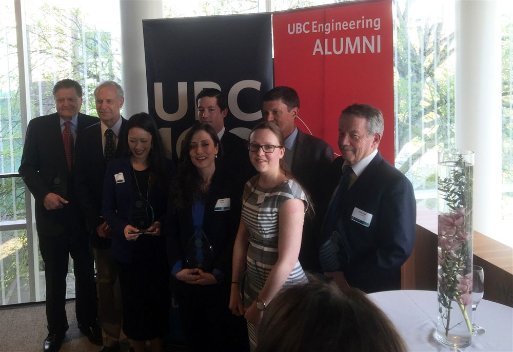 RESEAU PI and HQP Receive UBC Engineering Alumni Awards